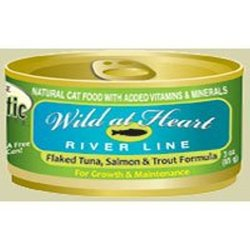 """Holistic Complete Tuna """"Wild at Heart River Line"""" Canned Cat Food - 24"""