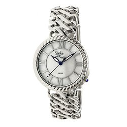 Sophie and Freda Women's Watches: Charleston SF3102-Silver Band-White Dial