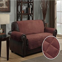 Furniture Protector Pet Cover Quilted Microsuede Chair 64 x 76 - Brown