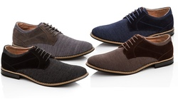 Mens Casual Lace-up Oxford Shoes: Navy/9