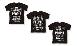 Women's My Favorite People Call Me Grammy Shirt - Black - Size: Medium