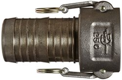 "Basic Standard 2-1/2"" Coupler 25C Ductile Iron Cam & Groove Hose Fitting"
