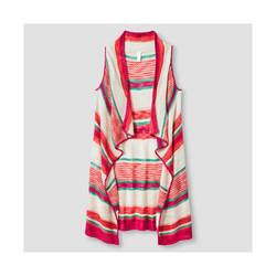 Xhilaration Girls' Striped Sweater Vest - Pink - Size: XL