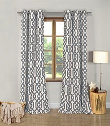 """Duck River Textiles Ashmont Blackout Pair Panel - Grey - 76x84"""""""