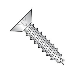 Small Parts #8-18 18-8 Stainless Steel Sheet Metal Screw - Pack of 50