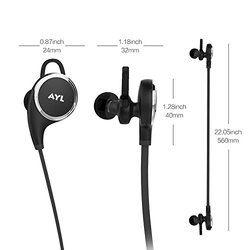 AYL 4009152 Wireless Noise Cancelling Sport Stereo In-Ear Headset - Black