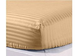 SDS 600 Thread Count Deep Pocket Fitted/Bottom Sheet - Taupe - Size: Queen
