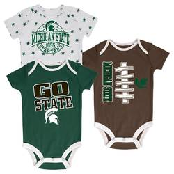 RT 91 NCAA Michigan State Infant Bodysuit - 3-Set - Assorted - Size: 0-3M