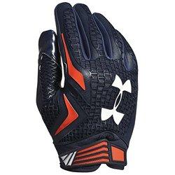 Under Armour NCAA Swarm Receiver Gloves-Auburn Tigers-Navy/Orange-Medium