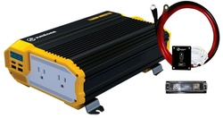 Krieger 12V Power Inverter with Dual 110V AC outlets - 1100 Watt
