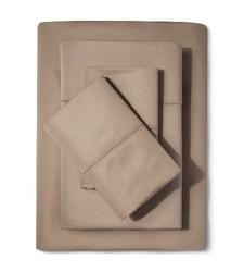 Supima Cotton Classic Hemstitch Sheet Set - Light Peet - Size: King