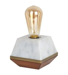 Threshold Edison Bulb Wood & Marble Table Lamp