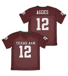 Franklin NCAA A&M Aggies Boy's Football Jersey - Dark Brown - Size: L