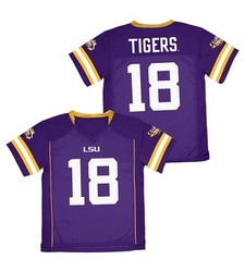 Franklin NCAA LSU Tigers Boys' Football Jersey - Purple - Size: XS