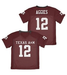Franklin NCAA A&M Aggies Boy's Football Jersey - Dark Brown - Size: S