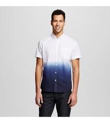 Mossimo Men's Dip Dye Shirt - Navy - Size: Medium
