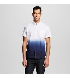 Mossimo Men's Dip Dye Shirt -Navy/White - Size: X-Large