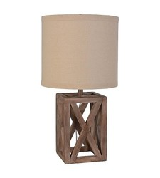 Threshold Oversized Wood Assembled Table Lamp