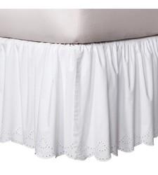 Chic Simply Shabby Eyelet Bedskirt - White - California King