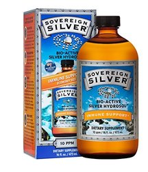 Sovereign Silver Bio-Active Silver Hydrosol for Immune Support - 16Oz