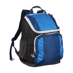 "Embark 17.5"" Recycled Content Future Tech Backpack - Black/Blue"