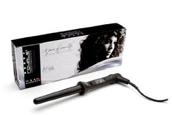 "Royale Infinite 25-18mm (1"" To 3/4"") Black Tourmaline Clipless Curling Iron / Wand Dual Voltage 110v-220v"