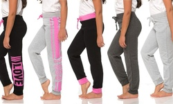 Coco Pink Girls' Assorted Joggers (5-Pack) - Size: 11/12