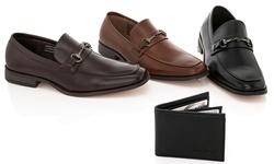 Franco Vanucci Men's Slip-on Dress Shoes: Brown/11.5