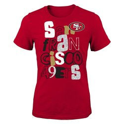 NFL Girls 7-16 San Francisco 49er Marquise Fashion Tee - Crimson - Small