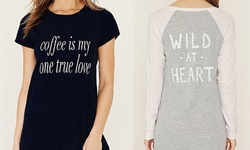 Women's Sleep Shirts: Catch Me If U Dare- Black/ Large