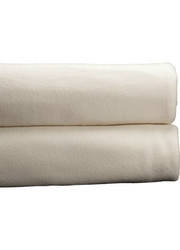 "Cotton Bay 90"" x 108"" Ashby Fleece Blanket - Ivory - Size: King"