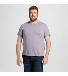 Mossimo Men's Short Sleeve T-Shirt - Purple Agate - Size: XLT