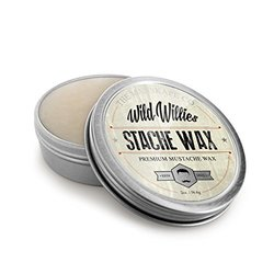 Wild Willie's Mustache Wax - The Only Hard Wax with 7 Natural Organic Ingredients for All Day Hold While Treating Your Mustache at the Same Time. Every Batch Made By Hand in the USA. 2 Ounce.