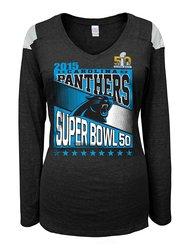 Women's Carolina Panthers Super Bowl Bound Tee - Black - Size: XL