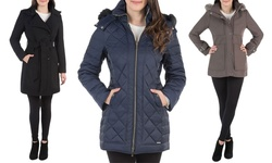 Women's Coats: Wool Belted Trench 175KW016 Coffee/12