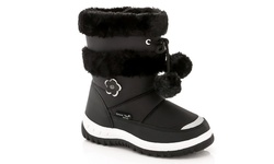 Girl's Snow Boots: Black/4