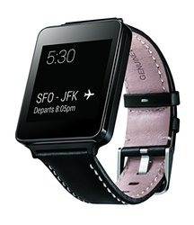 LG Electronics G Watch - Black with Genuine Leather Strap