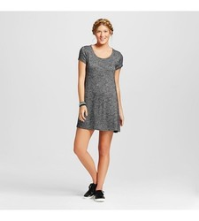 Mossimo Women's T-Shirt Dress - Charcoal - Size: Extra Small