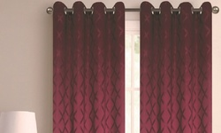 Extra Wide 110x84 Blackout Grommet Window Panel Pair - Burgundy