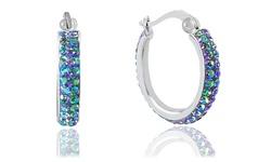 Huggie Hoop Earrings With Swarovski Elements