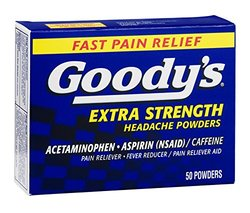 Goodys Extra Strength Headache Powders 50 TB, Pack of 12