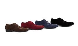 Royal Men's Moc Toe Lace-up Dress Shoes: Black/13