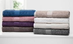 Cotton Towel Set: 6-Piece/Sand Stone