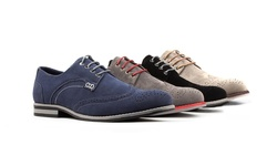Royal Men's Wing-tip Casual Shoes: Black/13
