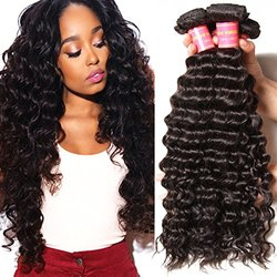 Beauty Forever 6A Deep Curly Wave Human Hair Extensions - 3Pk -14/16/18""