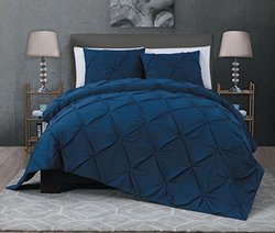 Ella Quilt Set 3-piece - Navy - Size: King