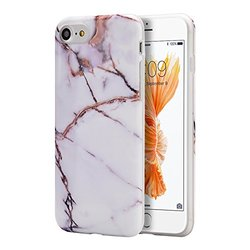 Marble Soft Tpu Case: White-gold/iphone 7 Plus