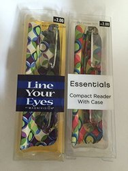 *New* in Box 2 Pair-foster Grant Line Your Eyes By Magnivision Compact Readers with Case (2.0)