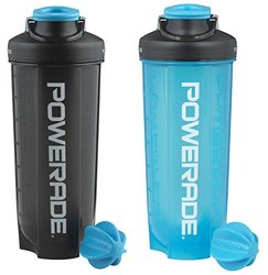 Powerade Mixer Bottle - 28 Oz - 2 Pack - Charcoal/Blue