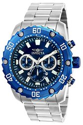 Men's Watches: Invicta-22517 Silver-tone Band/blue Dial